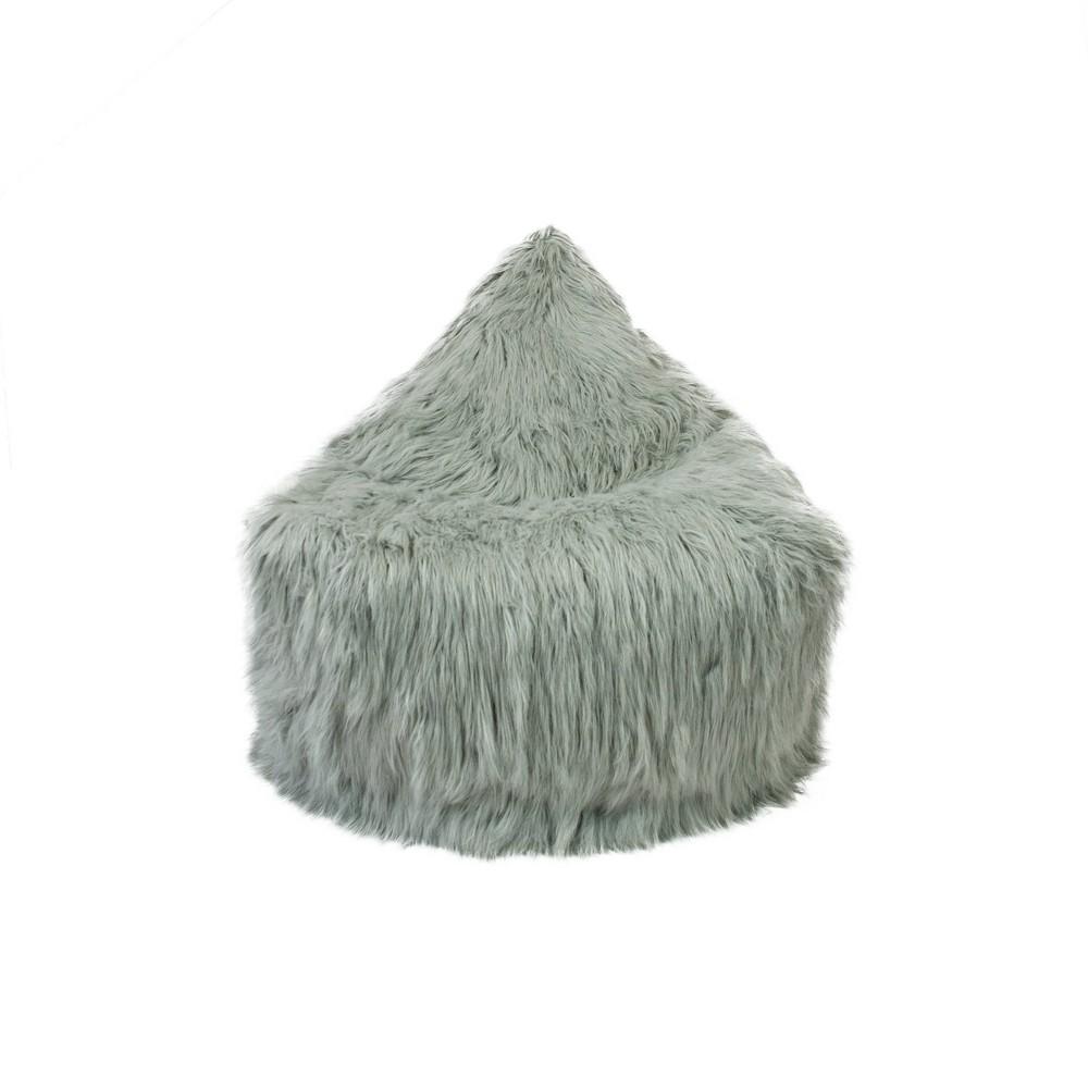 Image of Jasper Storage Lounger with Himalaya Faux Fur Light Gray - Mimish