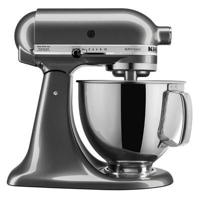 KitchenAid Refurbished 5qt Artisan Stand Mixer Liquid Graphite - RRK150QG