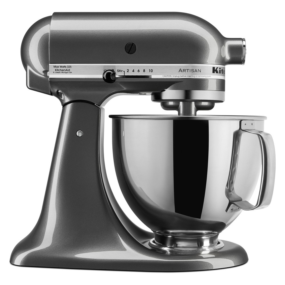 KitchenAid Refurbished 5qt Artisan Stand Mixer Liquid Graphite – RRK150QG 53960942