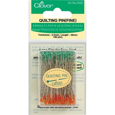 Clover Quilting Pins Fine-100/Pkg