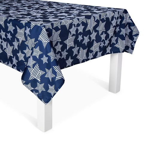 Blue Stars Wipable Tablecloth - image 1 of 1
