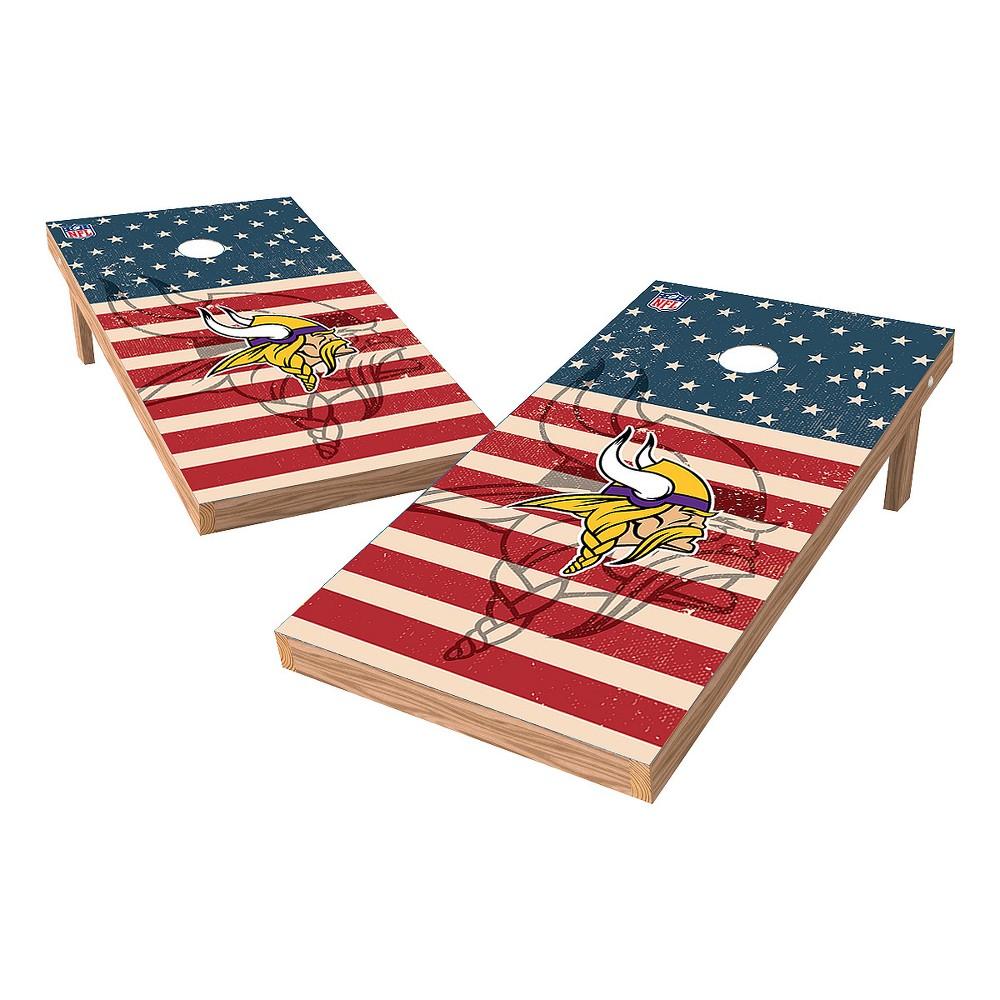 NFL Minnesota Vikings Wild Sports 2x4 Tailgate Toss Cornhole Shield - Stars and Stripes