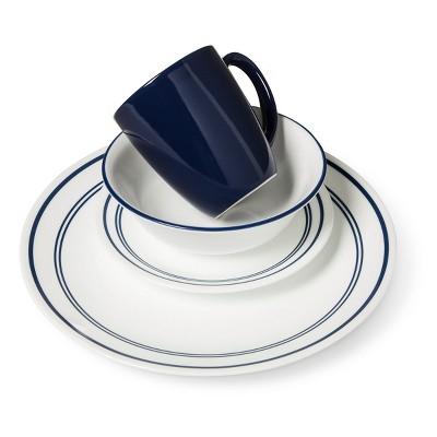Corelle® Livingware™ 16pc Dinnerware Set Classic Café Blue