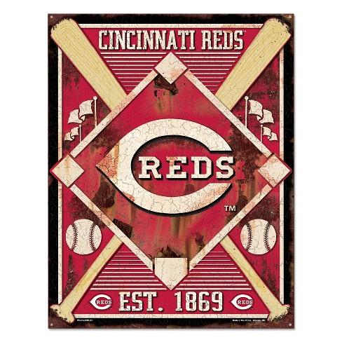 MLB Cincinnati Reds Metal Sign - image 1 of 1