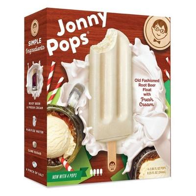 JonnyPops Root Beer Float & Cream Frozen Bars - 4pk/8.25oz