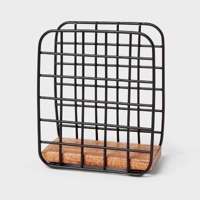 Iron and Mangowood Wire Napkin Holder Black - Threshold™