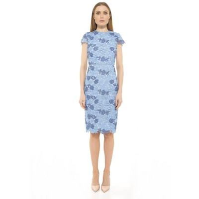 Alexia Admor Arabella Cap Slv Crewnk Chunky Lace Dress
