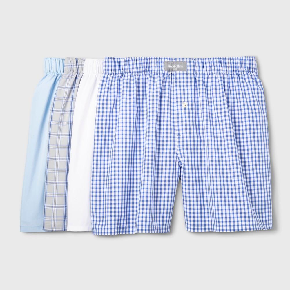 Mens Woven Boxer Shorts 4pk - Goodfellow & Co L Reviews