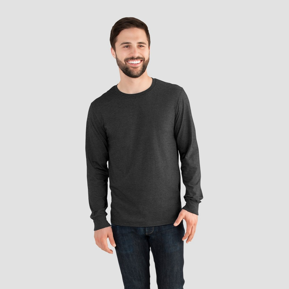 Fruit of the Loom Men's Long Sleeve T-Shirt - Charcoal Heather L