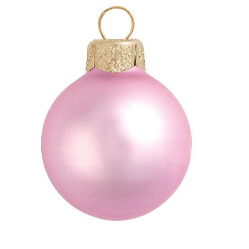 """Northlight 8ct Matte Glass Ball Christmas Ornament Set 3.25"""" - Pale Pink - image 1 of 1"""