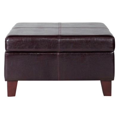 High Quality Luxury Large Faux Leather Storage Ottoman
