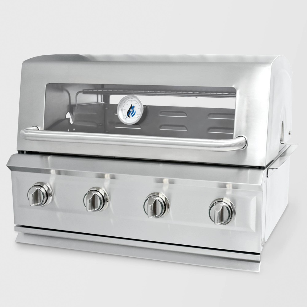 Image of Drop In 4 Burner Gas Grill GAS8490AS Silver - 3 Embers