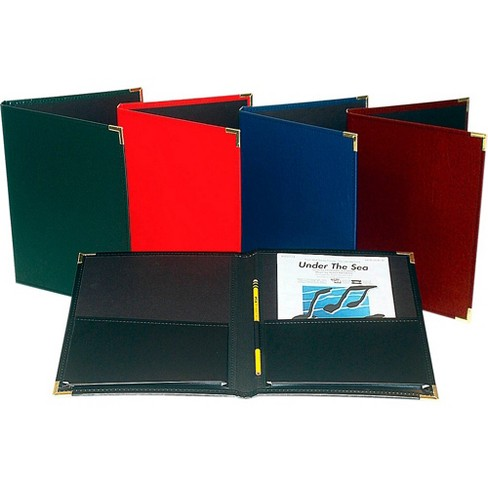 """Marlo Plastics Band and Orchestra Rehearsal Folder 12"""" x 14"""" with Brass Corners and Pencil Loop - image 1 of 1"""