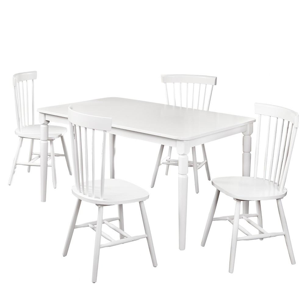 Vinturi Dining Set White/White 5 Piece - Tms