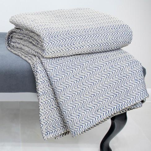Chevron Cotton Blanket - Yorkshire Home® - image 1 of 4
