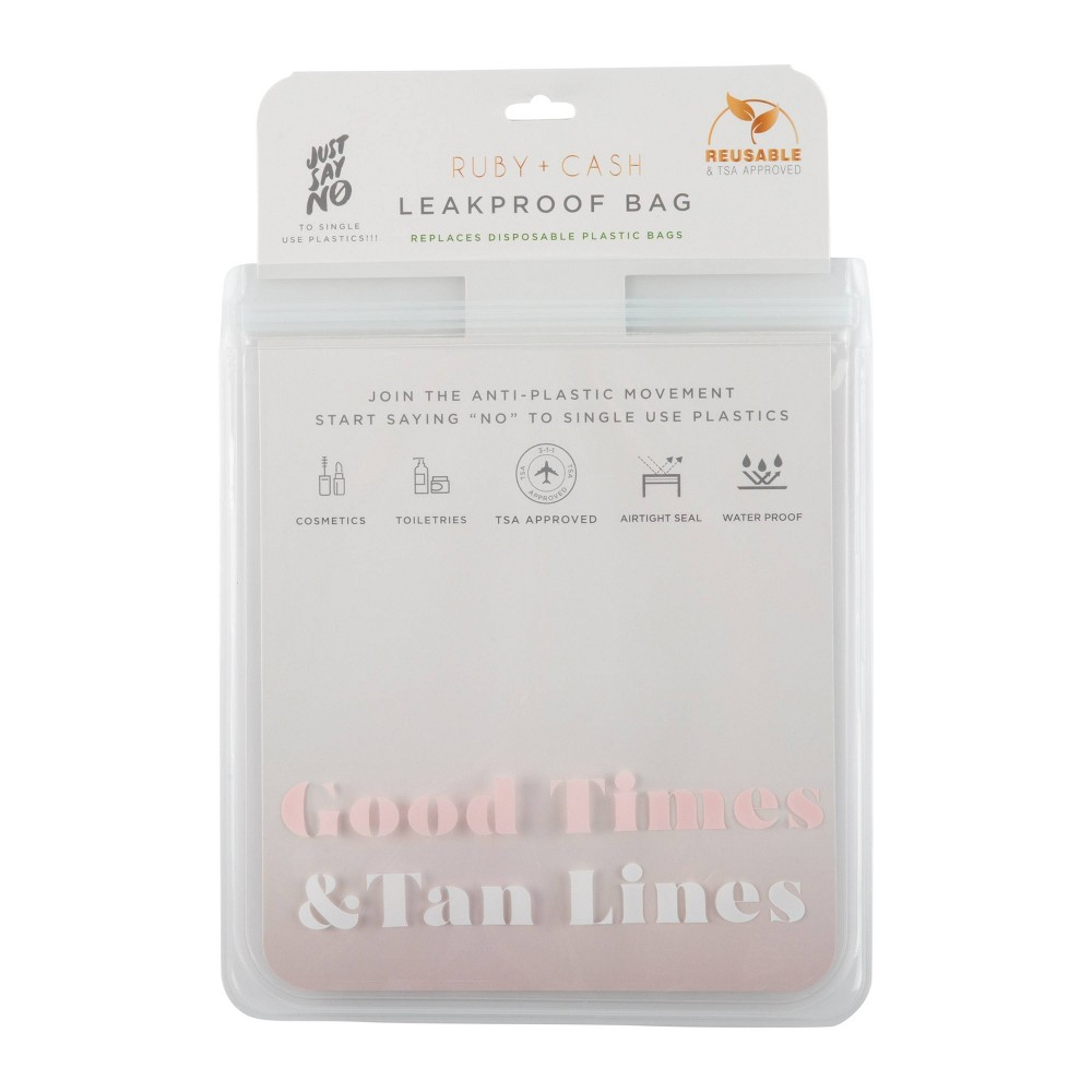 Image of Ruby+Cash Good Times Leakproof Quart Size Bag - TSA Approved