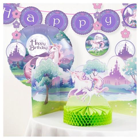 Unicorn Fantasy Birthday Party Decorations Kit Target