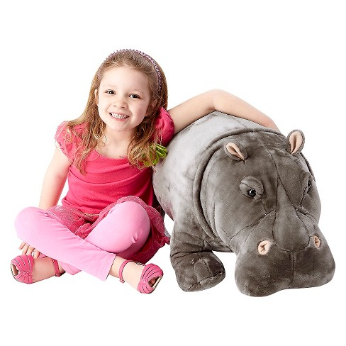 Melissa Doug Giant Hippopotamus Lifelike Stuffed Animal Over 2