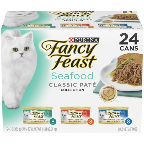 Purina Fancy Feast Classic Seafood Feast (Variety) - Cat Food -3oz / 24pk - image 1 of 6