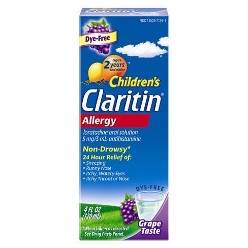 Children's Claritin 24 Hour Allergy Relief Liquid - Grape - Loratadine - 4 fl oz - image 1 of 4