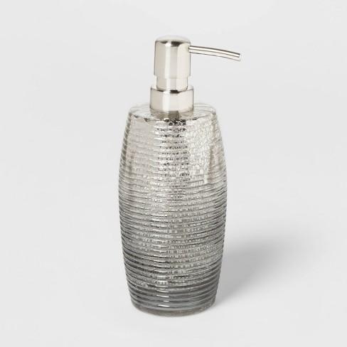 Mercury Glass Soap Lotion Dispenser Silver Opalhouse Target