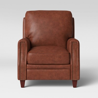 Bolton Pushback Recliner Faux Leather Camel Brown - Threshold™