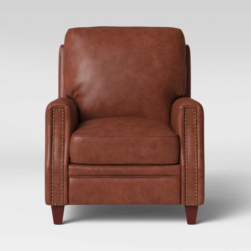 Bolton Pushback Recliner Faux Leather Camel Brown - Threshold