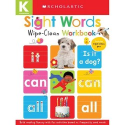Wipe-Clean Workbooks: Sight Words (Scholastic Early Learners) - (Hardcover)