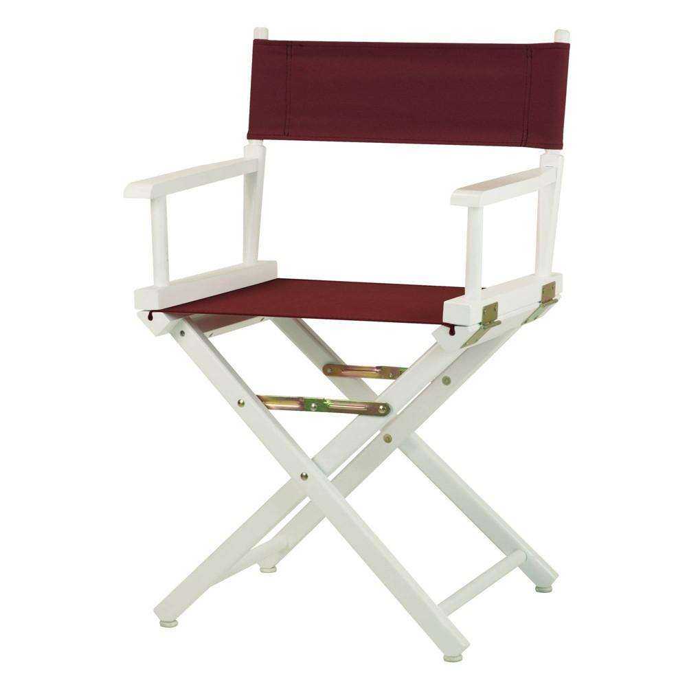 Burgundy White Frame Director 39 S Chair
