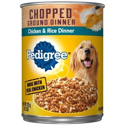 Pedigree Chopped Ground Dinner Wet Dog Food Chicken & Rice Dinner - 13.2oz