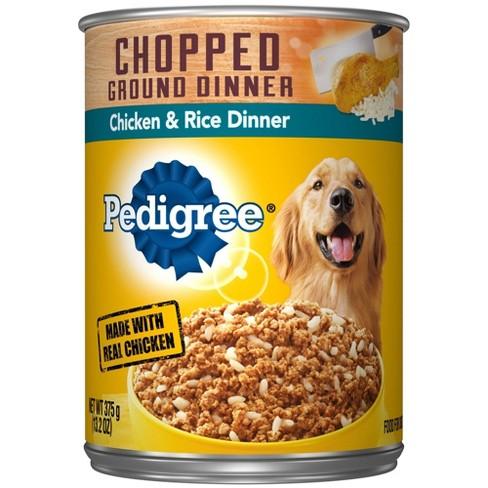 Pedigree Chopped Ground Dinner Wet Dog Food Chicken & Rice Dinner - 13.2oz - image 1 of 4
