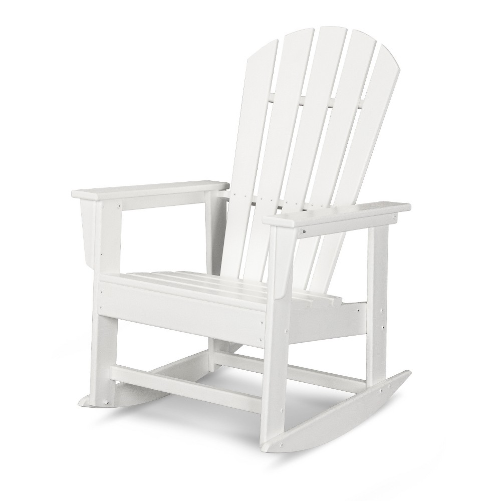 Polywood South Beach Patio Rocking Chair - White