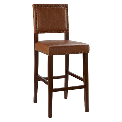 "Brook 29"" Barstool Wood - Linon Home Décor - image 1 of 4"