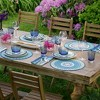 """Villeroy & Boch - Casale Blu Cotton Fabric Reversible Round Placemat Set of 4 - 15"""" Round - image 2 of 3"""