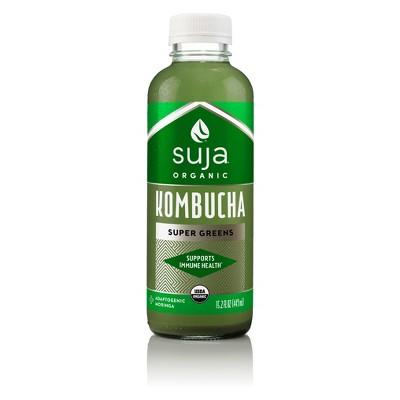 Suja Organic Vegan Kombucha Super Greens - 15.2oz