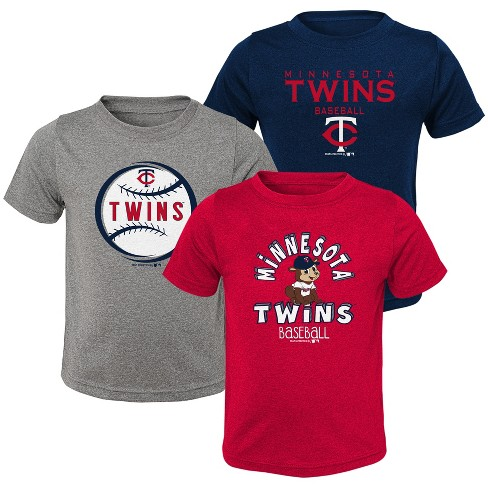 MLB Minnesota Twins Toddler Boys' Gray T-Shirt 3pk - image 1 of 4