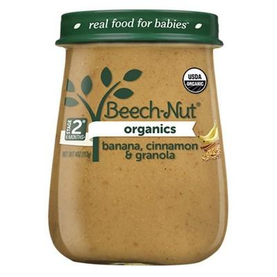 Beech-Nut Organics Banana, Cinnamon & Granola Baby Food Jar - 4oz