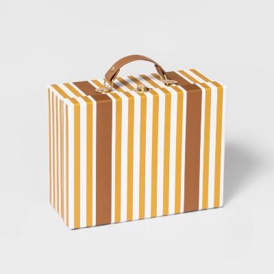 Medium Paper Box Suitcase Yellow - Pillowfort™
