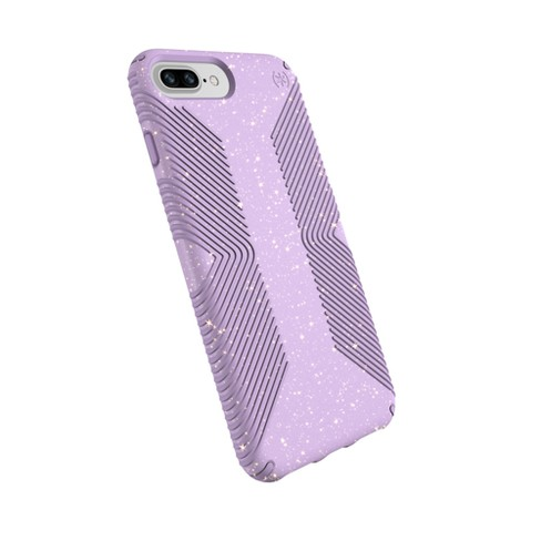 low priced 3b4ce e3b3d Speck Apple iPhone 8 Plus/7 Plus/6s Plus/6 Plus Case Presidio Grip -  Purple/Gold Glitter