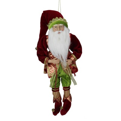 Northlight 18 Red And Green Poseable Whimsical Elf Hanging Christmas Ornament Target