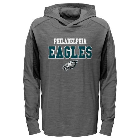 quality design 08002 99355 Philadelphia Eagles Boys' Sideline Speed Gray Lightweight Hoodie L