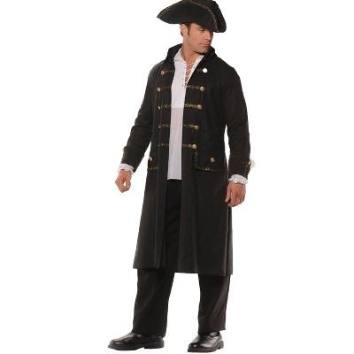 Adult Pirate Coat Set Halloween Costume Black One Size