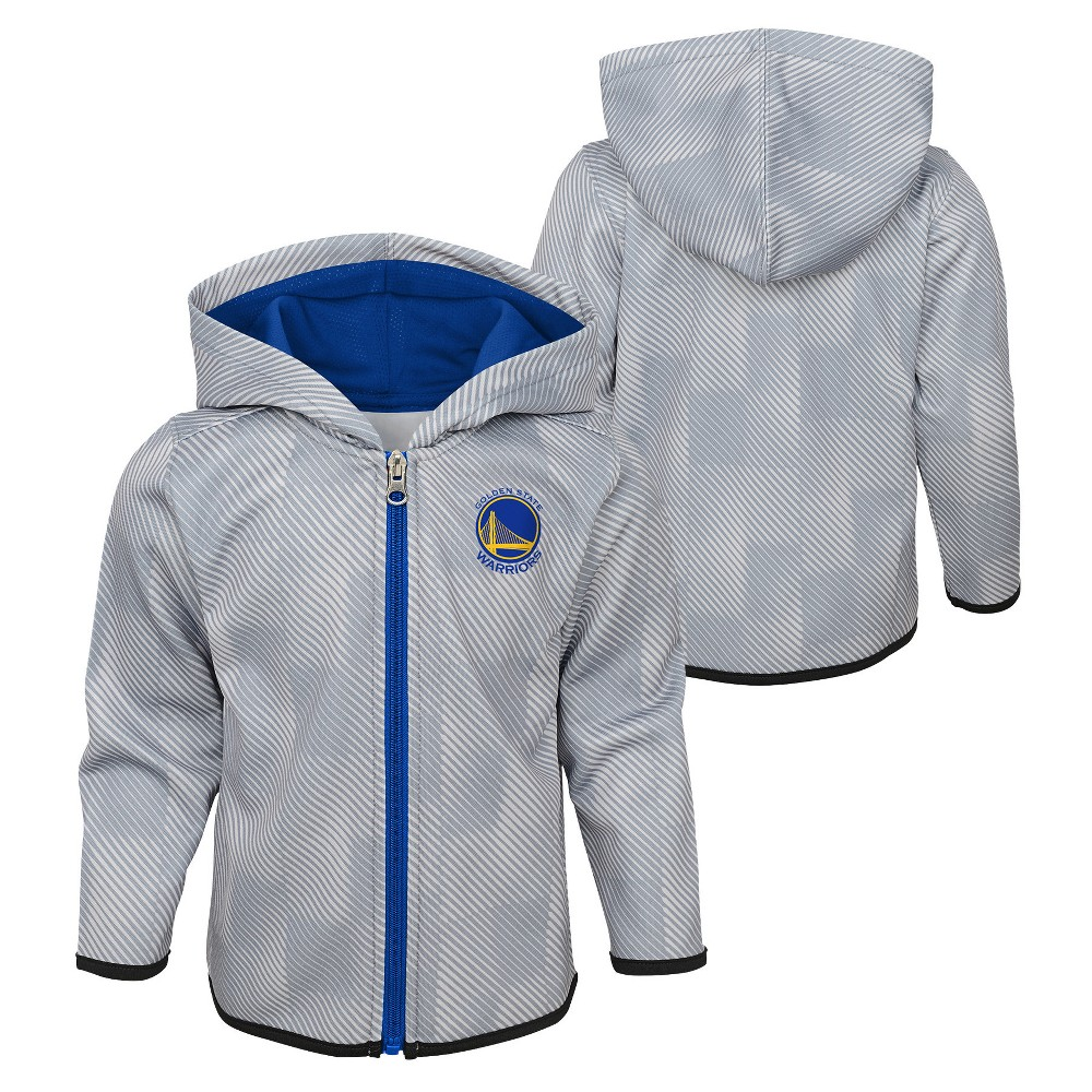 Golden State Warriors Toddler Baseline Full Zip Hoodie 2T, Toddler Boy's, Multicolored