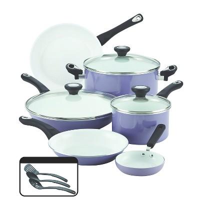 Farberware(r)PURECOOK(tm)Ceramic Nonstick Cookware Set - Lavender( 12Pc)