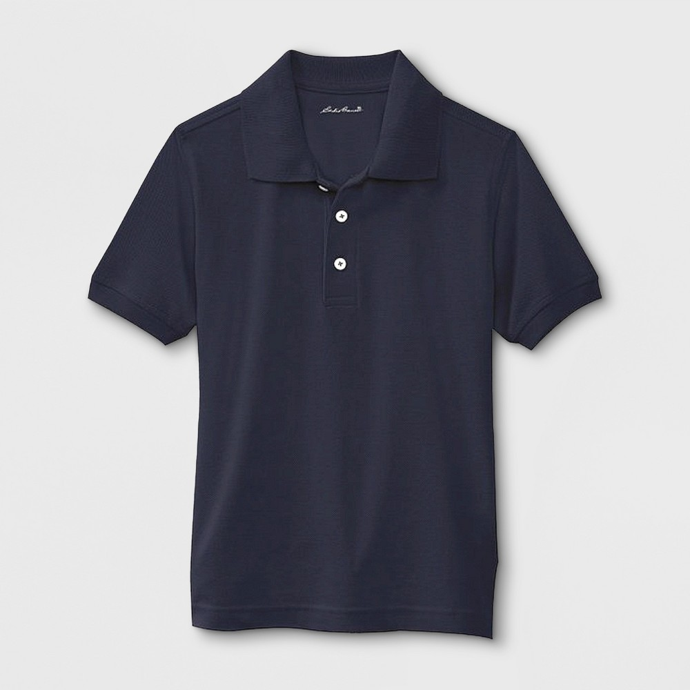 Eddie Bauer Boys' Uniform Polo Shirt - Navy (Blue) 14-16, Size: 14/16