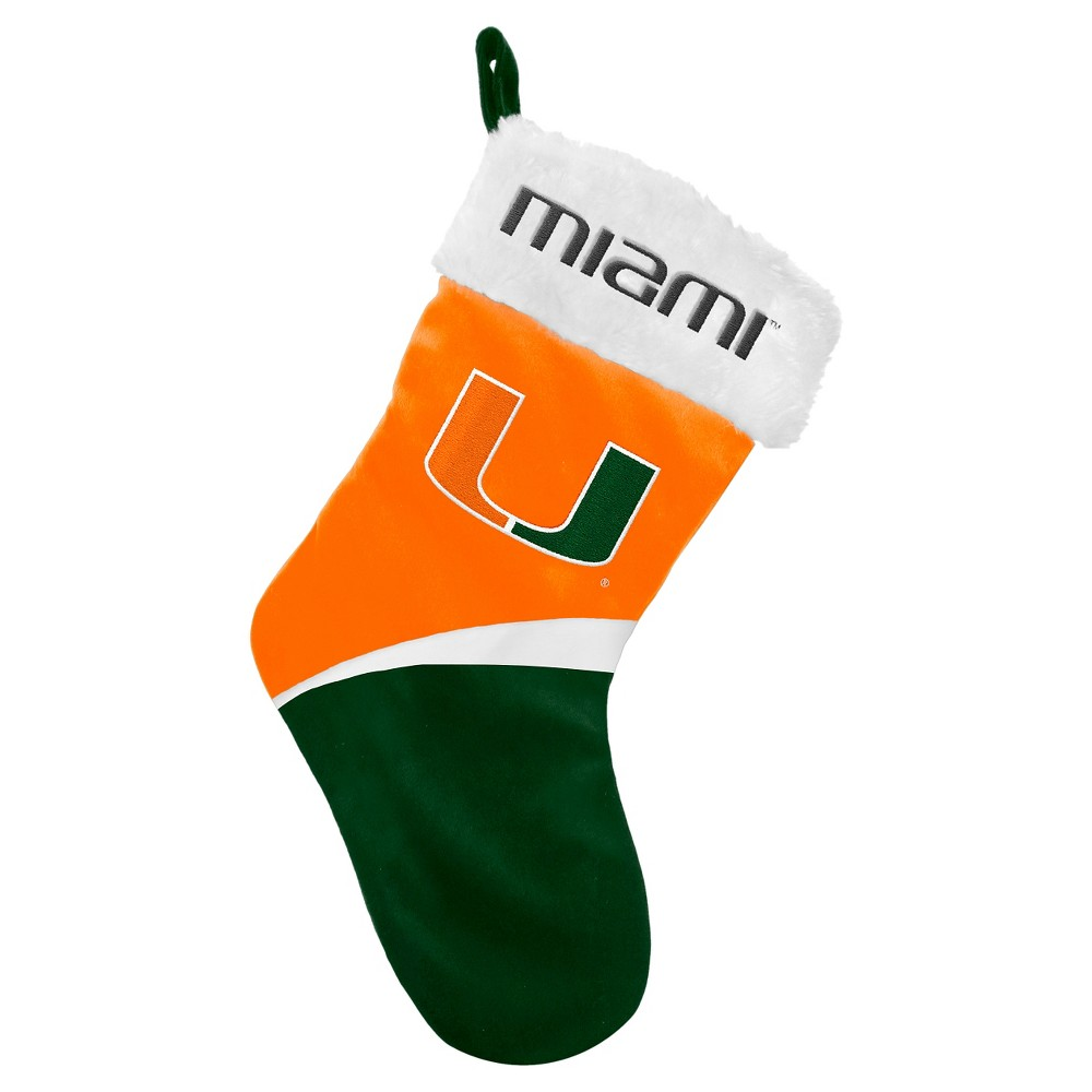NCAA Miami Hurricanes Forever CollectiblesHoliday Stocking