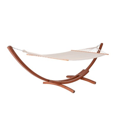 Bentwood Breeze Luxury Hammock with Wood Frame - Blue Wave