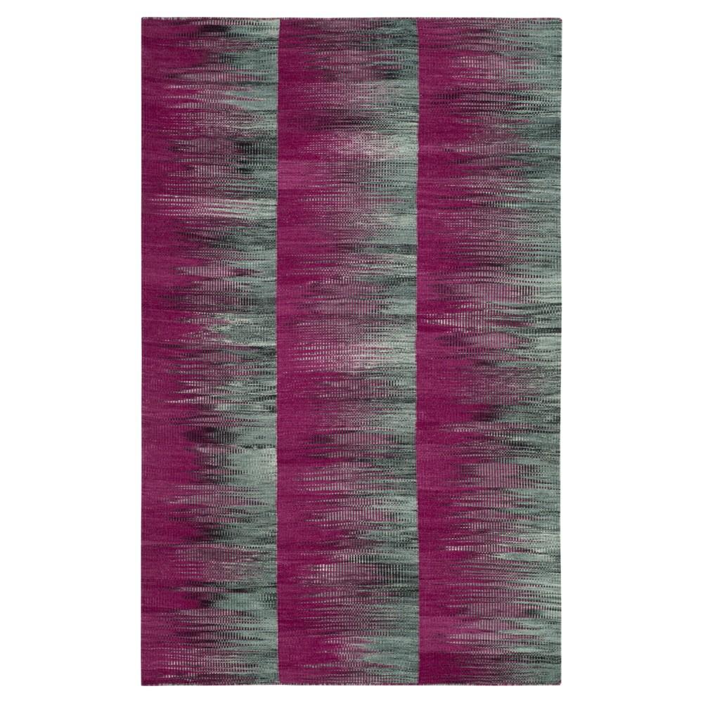 Purple/Charcoal (Purple/Grey) Abstract Woven Area Rug - (4'X6') - Safavieh