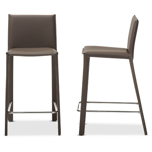 Crawford Modern And Contemporary Leather Upholstered
