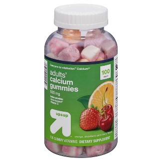 Calcium Gummies - Orange, Strawberry & Cherry - 100ct - Up&Up™